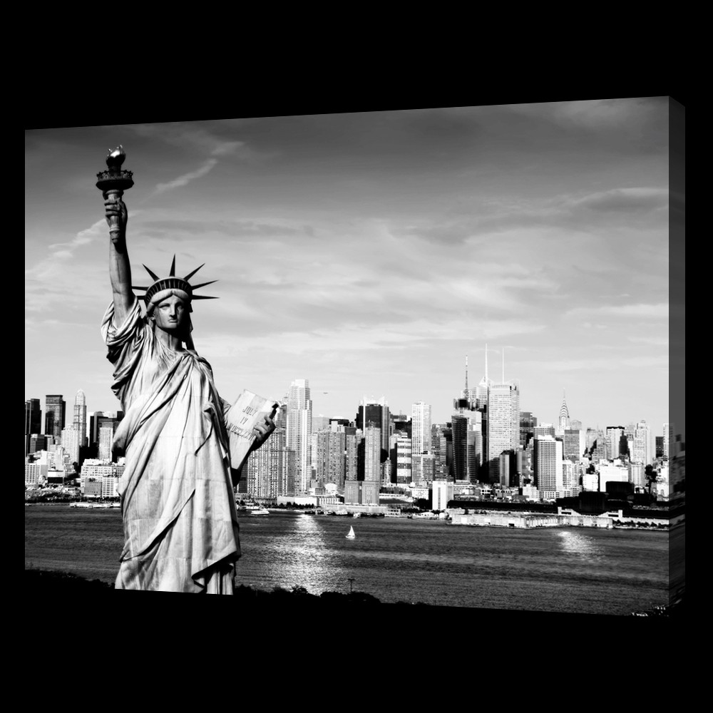 Liberty and the City B&W