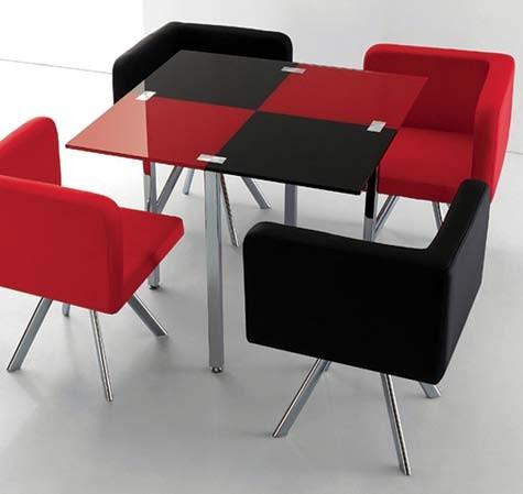 Lombard Black/Red Dinette