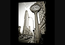 Clock and Flat Iron