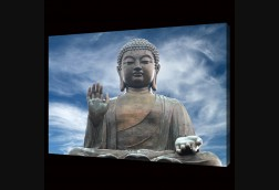 Buddha with Blue Sky
