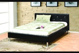 Tribeca Tufted Black w/ Bycast Bed